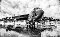 RIAT - Wet Friday (photofitzp) Tags: bw b52 blackandwhite fairford militaryaircraft riat2019 rain usaf power wet