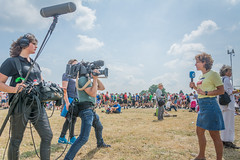 News report (stevefge) Tags: 2019 cuijk vierdaagse reporters news cameraman sound microphone camera people candid men women tv nederland netherlands nl nikon unsuspectingprotagonists unsuspecting reflectyourworld walkoftheworld street