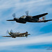 FHCAM MOSSIE LEADING THE SPITFIRE