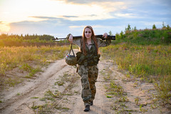 FZ6_3729 (Artfrost) Tags: war warrior woman weapon military soldier fire explosion womanwarrior svd sniper knife scramble staging excavator career russian russia artfrost armed army