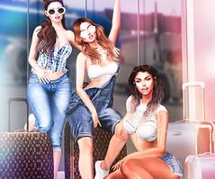 Bad Girls go everywhere ... (desiredarkrose) Tags: girls avatar secondlife denim jeans vacation fun cool mossu equal10 virtualphotography virtualreality sl blog apparel fashion style
