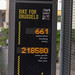 Bike for Brussels bike counter machine shows 661 bikers for the actual day on the street of Brussels, Belgium