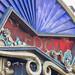 Kunstvolles Schild der Freedom Stage am Tomorrowland Festival 2019 in Belgien