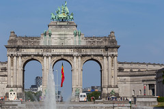 Monument of the Belgian independence in Parc du Cinquantenaire, Brussels