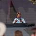 Conro startet sein Set im Rose Garden Stage des Tomorrowland Festivals in Boom, Belgien