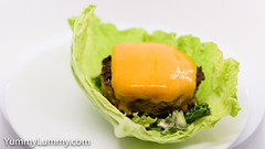 Beef and pork burger with cheese and Hollandaise sauce salad (garydlum) Tags: beef cabbage cheese hollandaisesauce kale lettuce pork canberra australiancapitalterritory australia