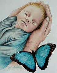 My Artwork (fabiusmen) Tags: child colour children beautiful blue sketch sweet malerei mother woman art artist arte artwork artista artiste artistic painting paint people pittura picture portrait butterfly freehand hand hands drawing draw disegno diseño white wow new realism italian italy italia pencil pastel paper pastello