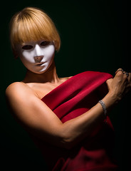 Mask No. 7 [Color] (stephanw9) Tags: pretty sensual sexuality sexy woman young mask studio back body shoulder slim tall tan fineart lowkey lowlight minimalistic nude portrait anonymous art artistic attractive beautiful beauty blond blonde curve elegant emotion erotic female feminine girl light model natural