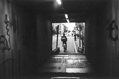 Copenhagen commute / TechPan 1986 (gbrammer) Tags: 35mm contaxiia expired41986 expiredfilm iso100 kodaktechpan sonnar5015 v800 vesterbro zeissikon copenhagen film hc110 rangefinder