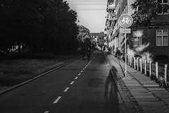 Copenhagen commute / TechPan 1986 (gbrammer) Tags: 35mm contaxiia expired41986 expiredfilm iso100 kodaktechpan nørrebro sonnar5015 v800 zeissikon copenhagen film hc110 rangefinder