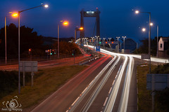 Darren Legg (Darren Legg) Tags: photoessay lighttrails tamar bridge traffic