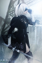 2B Nier Automata Cosplay (Amy Hu Photography) Tags: nier nierautomata automata nierautomatacosplay cosplay cosplayer 9s 9scosplay 2b 2bcosplay portrait art artist digitalart androids android androidcosplay machines yohra yohratype yohrano2typeb yohrano9types no type sword katana pod pods locations endings memories game gamer player videogame anime manga ps4 squareenix square enix 2018 robot apocalypse amy hu photography black white aesthetic fanart hack virus lily lilywhite beautiful