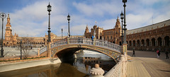 Beautiful bridges representing the four ancient kingdoms of Spain (B℮n) Tags: plazadeespaña sevilla seville spain landmark mooirsh fountains pavilions film starwars naboo attackoftheclones episodeii world exhibition government townhall andalusia andalucia olives historic buildings ponds walls benches spain's famous open square filmed spanje 50faves topf50 1929 wellknown aníbalgonzález architecture architectural masterpiece monument decorated ceramictiles young anakin padmé maríaluisapark tamronsp2470mm bridge ancient kingdoms lantern light tiles ceramic 100faves topf100