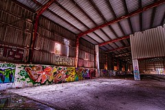 Urbex Rout Lëns / Terres Rouges - Hall (Robert GLOD (Bob)) Tags: lens lands lu esch alzette eschsuralzette minett lëns red building art industry architecture painting graffiti hall construction europe steel business luxembourg redlands hdr highdynamicrange industries hdri steelworks urbex rout terres rouges terresrouges businessindustry routlëns routlens