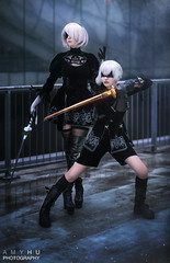 2B & 9S Nier Automata Cosplay (Amy Hu Photography) Tags: nier nierautomata automata nierautomatacosplay cosplay cosplayer 9s 9scosplay 2b 2bcosplay portrait art artist digitalart androids android androidcosplay machines yohra yohratype yohrano2typeb yohrano9types no type sword katana pod pods locations endings memories game gamer player videogame anime manga ps4 squareenix square enix 2018 robot apocalypse amy hu photography black white aesthetic fanart hack virus lily lilywhite beautiful
