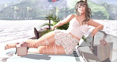 #94 Elly (llrubyll resident) Tags: summer sun tram maitreya mesh body lelutka head simone lumae darkfire car 3d girl fille avatar secondlife fashion