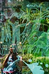 200/365: the bigger picture (Fille.de.Lumière) Tags: green inthegreen outinthegreen outsideinside insideoutside peopleinthewindow reflections reflection reflective ofme selfportrait selfstudy selfie