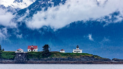 Point Retreat Lighthouse, Funter Bay Marine Park, Alaska. USA. (3.3 mil views - Thank you all.) Tags: alaska unitedstatesofamerica whale staneastwood stanleyeastwood sea ocean pacific boat seal animal mammal fluke seascape