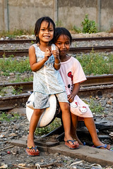 Girls, Railway; Phnom Penh
