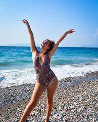Becca - Loving Rhodes Life (littlestschnauzer) Tags: rhodes island greek holiday 2018 summertime beach sea becca happy blue skies