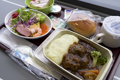 Well-simmered beef and mashed potato / 体験機内食 / The Legend Of Concorde (大阪府泉佐野市) (y-shindoh) Tags: fujifilm x100f apsc gourmet food