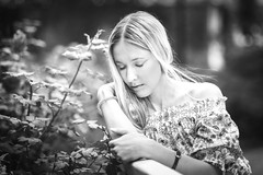 Black-white (svklimkin) Tags: girl garden blackwhite beautiful portrait people svklimkin summer woman canon dramatic девушка лето