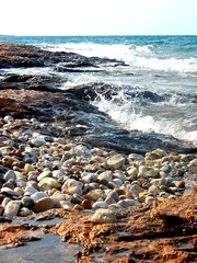 """The earth has music for those who listen..."" (fl_mala) Tags: parosisland greece lifeisbetterontheisland waves wildsea sea blue cyclades ilovegreece discovergreece island greekislands"