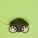 Green leaf with wheels