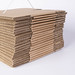 Cardboard cartons on white background