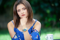 20190712-IMG_6838-Edit-2 (Alya Studio) Tags: portrait posing fashion face chair cafe hair hairstyle dress redhair mistress vamp glamour table drinking garden bluetshirt hand cup cute lovely beautiful moroccon landscape mug