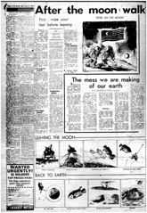 The Melbourne Herald- Monday July 21, 1969- Page 4- Apollo 11 Moon Landing and Walk (Vax80) Tags: apollo 11 moon landing nasa national aeronautics space administration july 1969 melbourne the herald newspaper neil armstrong edwin buzz aldrin michael collins saturn command service lunar module rocket cape canaveral kennedy australia united states america