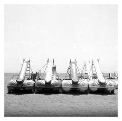 . (irgendwiejuna) Tags: nopeople beach spain malaga summer blackandwhite hasselblad hasselblad500cm delta100 ilfordfilm ilford cars slides mediumformat 120 6x6 analogue analog shootfilm four