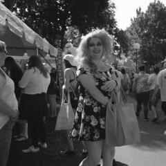 untitled (kaumpphoto) Tags: 120 tlr rolleiflex street city urban bw white black ilford gay happy minneapolis pride festival print dress portrait gaypride