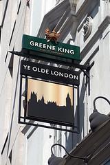 Olde London, London EC4. (piktaker) Tags: london londonec4 ec4 pub inn bar tavern publichouse pubsign innsign oldelondon greeneking