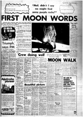 The Melbourne Herald- Monday July 21, 1969- Page 3- Apollo 11 Moon Landing and Walk (Vax80) Tags: apollo 11 moon landing nasa national aeronautics space administration july 1969 melbourne the herald newspaper neil armstrong edwin buzz aldrin michael collins saturn command service lunar module rocket cape canaveral kennedy australia united states america
