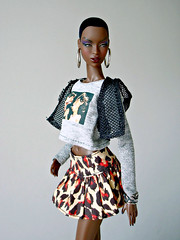 The Muse Adele (Deejay Bafaroy) Tags: fashion royalty fr integrity toys doll puppe barbie adele makeda themuse portrait porträt black