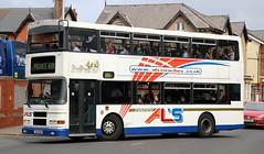 Happy Al's Coaches, Birkenhead T452 KDM at Blackpool Pleasure Beach. (Gobbiner) Tags: happyalscoaches olympian t452kdm blackpool alexanderbelfast volvo birkenhead dublinbus rv516 99d516