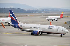 """""""N. Karamzin / Н. Карамзин"""" Aeroflot VP-BCD Boeing 737-8LJ Winglets cn/41215-5723 @ LSZH / ZRH 25-02-2018 (Nabil Molinari Photography) Tags: nkaramzinнкарамзин aeroflot vpbcd boeing 7378lj winglets cn412155723 lszh zrh 25022018"""