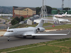 D-AGMF Bombardier Global Express (Fai Rent-a-jet) (Aircaft @ Gloucestershire Airport By James) Tags: luton airport dagmf bombardier global express fai rentajet bizjet eggw james lloyds
