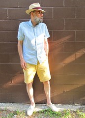 7-20-2019 Today's Clothes (Michael A2012) Tags: this mans summer style vintage fashion melvin genuine panama hat fedora chaps linen cotton dockers espadrilles