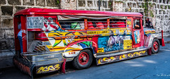 2019 - Manila - 8 (Ted's photos - For Me & You) Tags: 2019 cropped manila nikon nikond750 nikonfx tedmcgrath tedsphotos vignetting bus jeepney red redrule lgsmotors transportation publictransit wideangle widescreen
