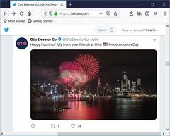 Otis Fireworks Stock Use (Michael.Lee.Pics.NYC) Tags: michaellee stockphotography otiselevator utc fireworks weehawken newjersey
