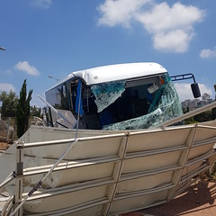 Accident - HaHagana Road (david55king) Tags: משטרה אקם אקמ משמראזרחי תאונה תאונתדרכים police civilguard trafficpatrol policevolunteer trafficaccident haifa israel חיפה ישראל