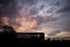 Northern Light (Andrew Shenton) Tags: york sunset class156 railway train colton junction bolton percy