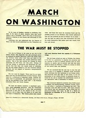SDS call for march against Viet War: 1965 (Washington Area Spark) Tags: students for democratic society sds 1965 march washington peace antiwar vietnam demonstration rally picket dc white house