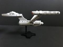 NCC-1701 (SaurianSpacer) Tags: lego starship moc microscale federation starfleet enterprise ncc1701 star trek
