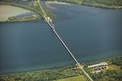 Canal de Beauharnois (Eunice Gibb) Tags: quebec aerial aerialquebec river water riverlandscape riveraerial stlawrence stlawrenceriver stlawrenceaerial canal canalonstlawrence beauharnois canaldebeauharnois beauharnoiscanal bridge bridgeoverbeauharnoiscanal boulevardpiexii piexii piexiiboulevard bridgeovercanal landscape