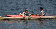 Kayak For two (Scott 97006) Tags: woman man kayak water river recreation sunshine