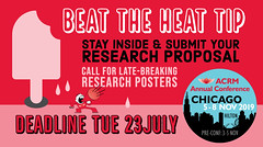 Beat the Heat TIP: Stay inside & submit your research proposal (ACRM-Rehabilitation) Tags: acrm2019 acrmconference acrm americancongressofrehabilitationmedicine callforproposals rehabilitationresearch chicago hiltonchicago interdisciplinary medicaleducation medicalconference cmeceu continuingeducationcredits posters scientificresearch scientificpaperposters