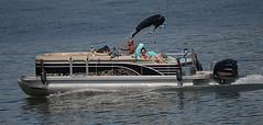Outboard Cruising (Scott 97006) Tags: boat river travel cruise man woman sunshine recreation